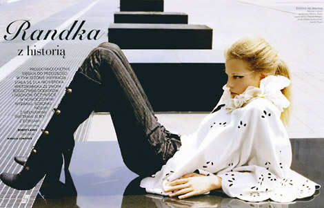 Boot Fashion: Elena Parfenova in Knee High Boots, Pana Mag, 10/2006.