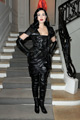 Dita Von Teese in Leather and Boots. Christian Dior Paris Haute Couture Show, January 25, 2010.