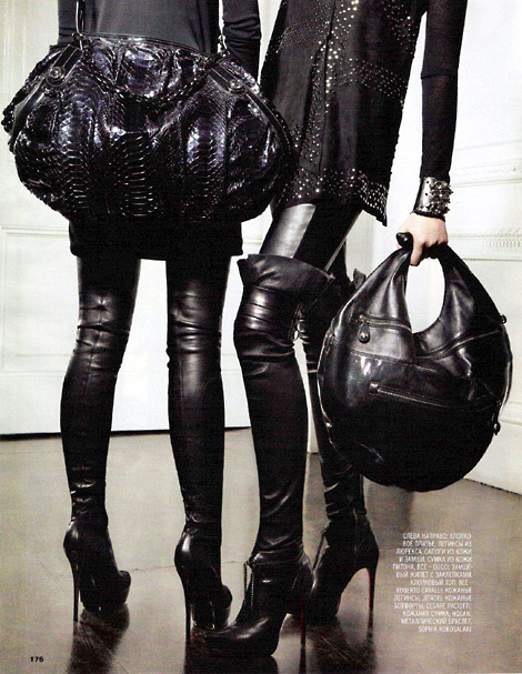 Thigh High Boots: Guuci and Cesare Paciotti, Marie Claire Russia.