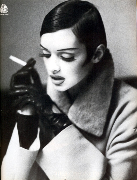 Leather Gloves and Smoking: Vogue Italia, October 1992.