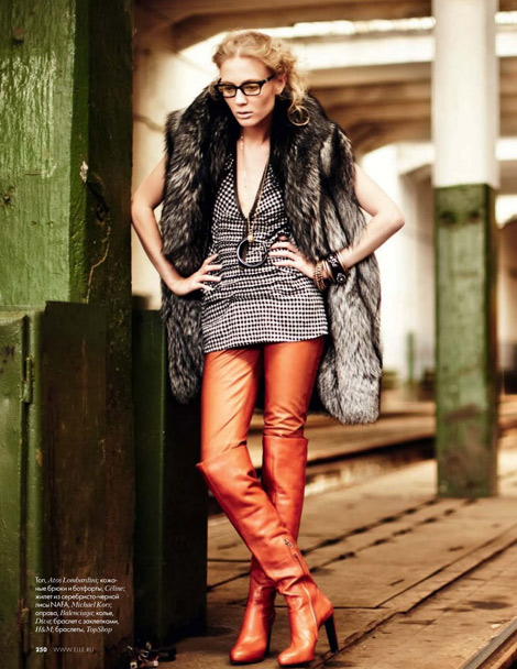 Over The Knee Boots: Elle Romania, November 2009.