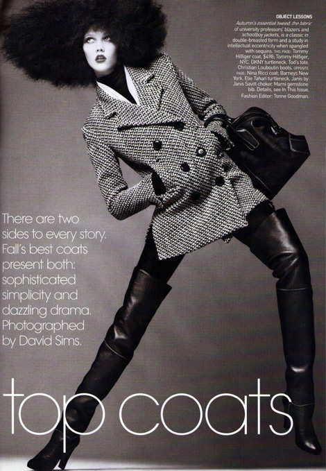 Boot Fashion: Karlie Kloss in Thigh High Christian Louboutin Boots. Vogue US 09/2009.
