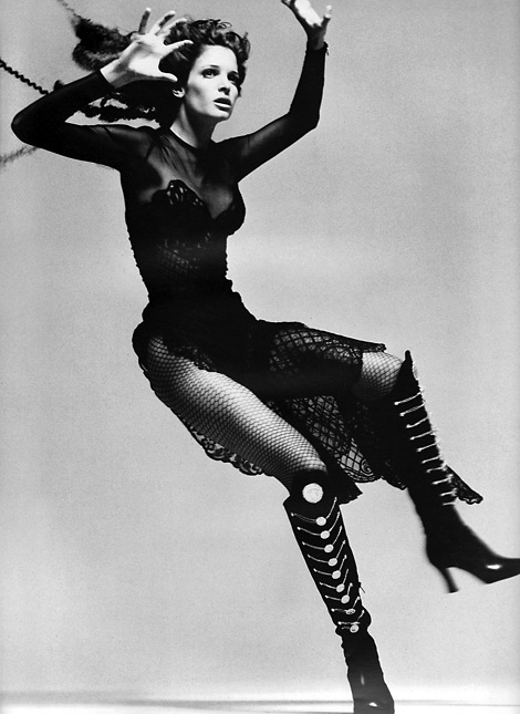 Boot Fashion: Stephanie Seymour for Versace. F/W Campaign 1993.