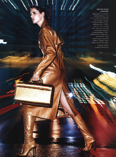 Boot Fashion: Stella Tennant in Celine. Vogue US, 09/1999.
