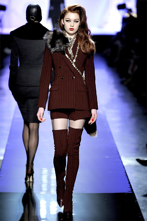 Runway Boots: Jean Paul Gaultier Thigh High Boots. F/W 2009.