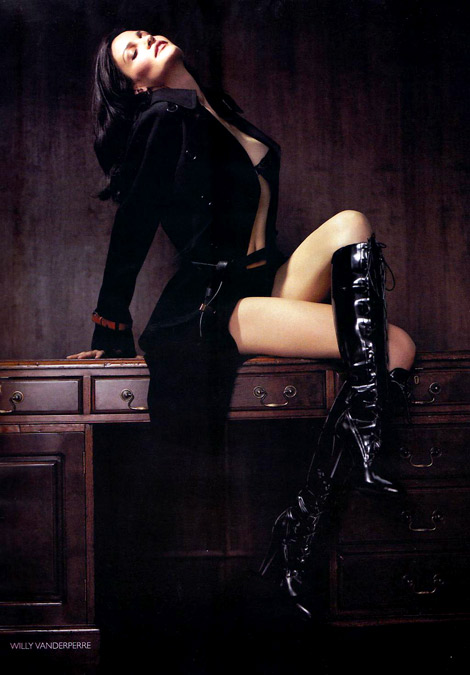 Boot Fashion: Alessandra Ambrosio in Fendi Laced Knee High Boots. Vogue Russia, 09/2010.