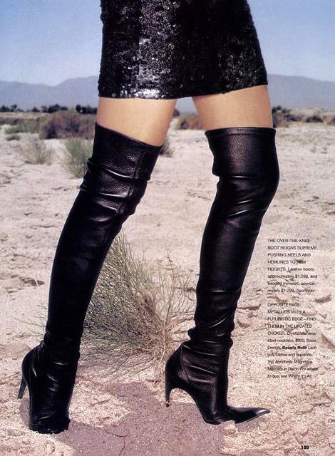 Boot Fashion: Sportmax Thigh High Boots. Flare Canada, 09/2003.