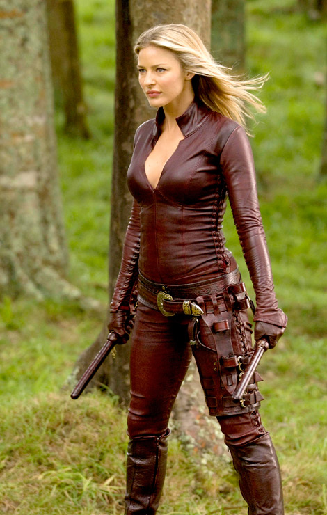 Leather Catsuit/Gloves: Legend of the Seeker Production Stills.