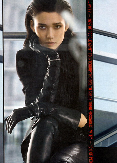 Glove Fashion: Tao Okamoto for Kenneth Cole Leather. F/W 2010/11.