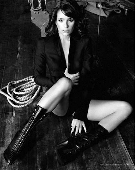 Celebrities in Boots: Lea Michele in Givenchy Laced Boots. Marie Claire UK, 11.2010.