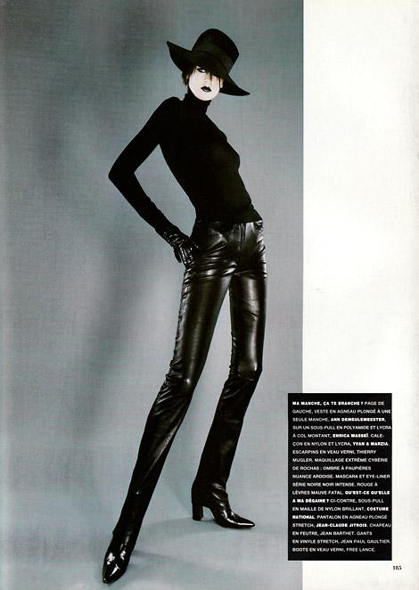 Fashion: Jean-Claude Jitrois Leather. Vogue Paris, 12/1996.