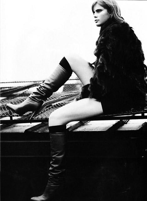 Boot Fashion: Adina Fohlin in Fendi Knee High Boots. Vogue Italia, 11/2003.