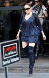 Celebrities in Boots: Jennifer Lopez in Thigh High Boots. Paris, April 25, 2010.