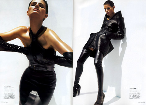 Boot Fashion: Isabeli Fontana in Givenchy Thigh High Boots. Vogue Nippon, 11/2007.