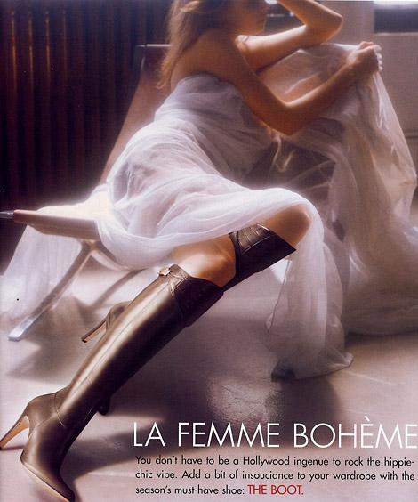 Boot Fashion: Inguna Butane in Gucci Knee Boots. Neiman Marcus, 09/2005.