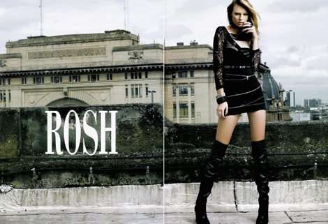 Boot Fashion: Fernanda Travisky in Rosh Over The Knee Leather Boots. F/W 2010.