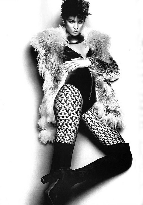 Boot Fashion: Liya Kibede in Ermanno Scervino Thigh High Boots. Vogue Italia, 08/2010.