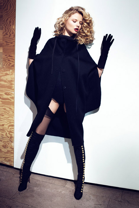 Boot Fashion: Magdalena Frackowiak in Christian Louboutin Over The Knee Boots. Sunday Telegraph, 09.2010.