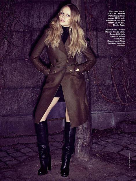 Boot Fashion: Leona in Gianvito Rossi Knee Boots. Glamour Russia, 10.2010.