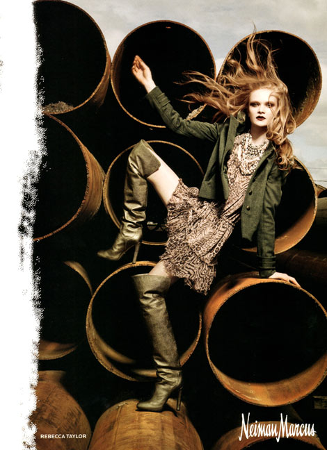 Boot Fashion: Rebecca Taylor Green Thigh High Boots. Neiman Marcus, F/W 2010/11.