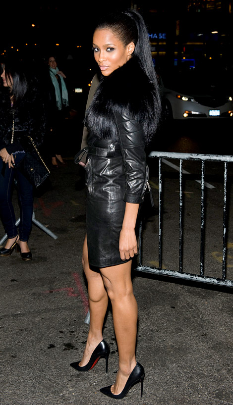 Celebrities in Leather: Ciara in Givenchy Leather. NYC, 10 ...