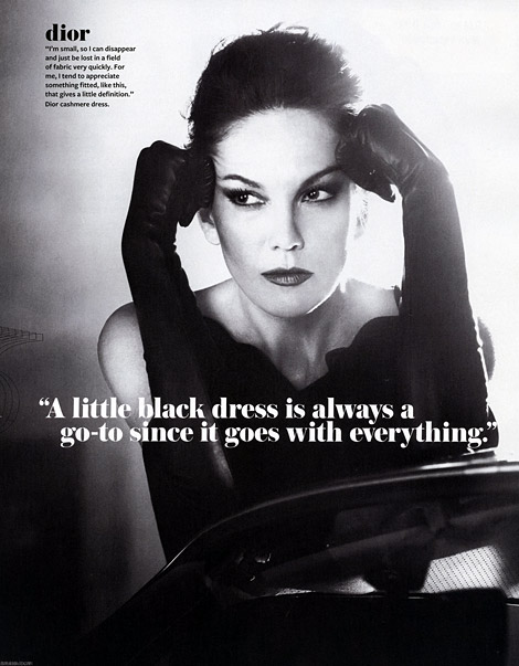 Celebrities in Gloves: Diane Lane in Leather Opera Gloves. InStyle, 11.2010.
