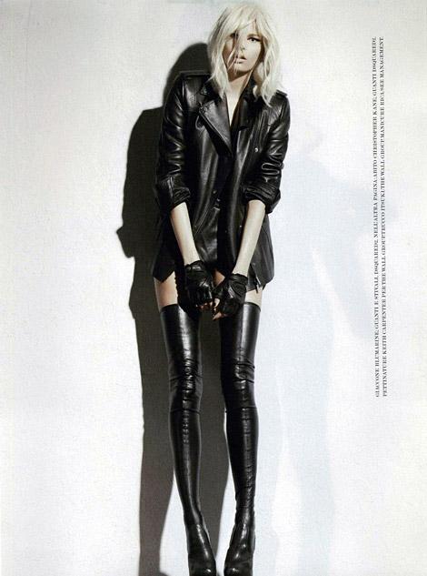 Boot Fashion: Hana Soukupova in DSquared2 Thigh High Boots. Flair Italia, 10.2010.