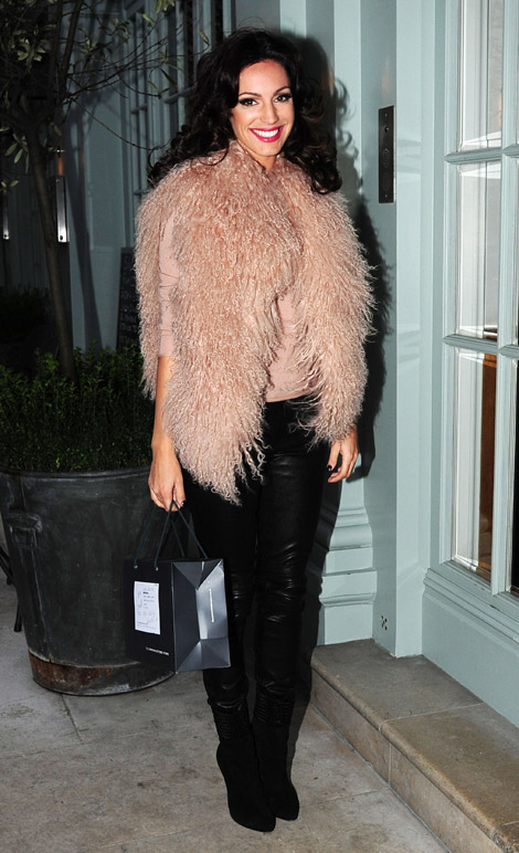 Celebrities in Boots/Leather: Kelly Brook. London, 11.17.2010.