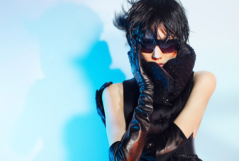 Leather Gloves: Tao Okamoto in Leather Opera Gloves. Valveat 81 Japan, F/W 2010.