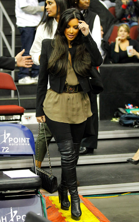 615c74080a9f Celebrities in Boots  Kim Kardashian in Thigh High Boots. Los Angeles