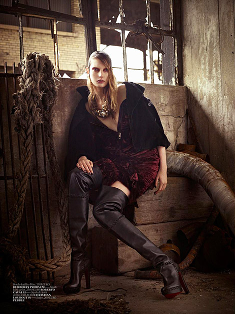 Boot Fashion: Ylonka Verheul in Christian Louboutin Thigh High Boots. Vogue Turkey, 12.2010.
