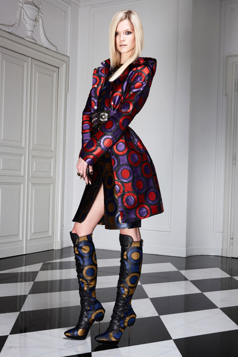 Boot Fashion: Versace Knee Boots. Pre-Fall 2011.