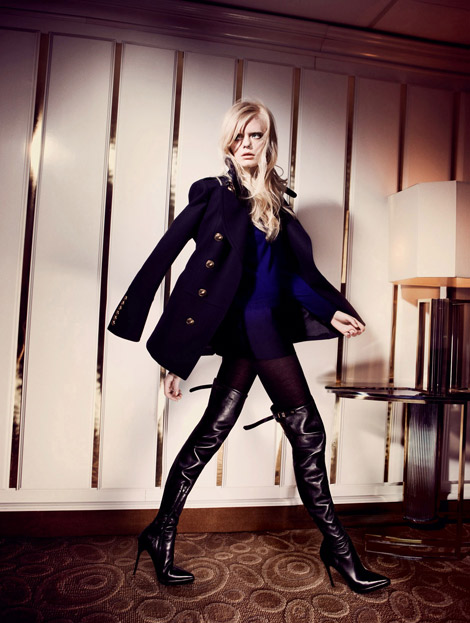 Boot Fashion: Isa Asklof in Burberry Prorsum Thigh High Boots. View of the Times, 01.2011.