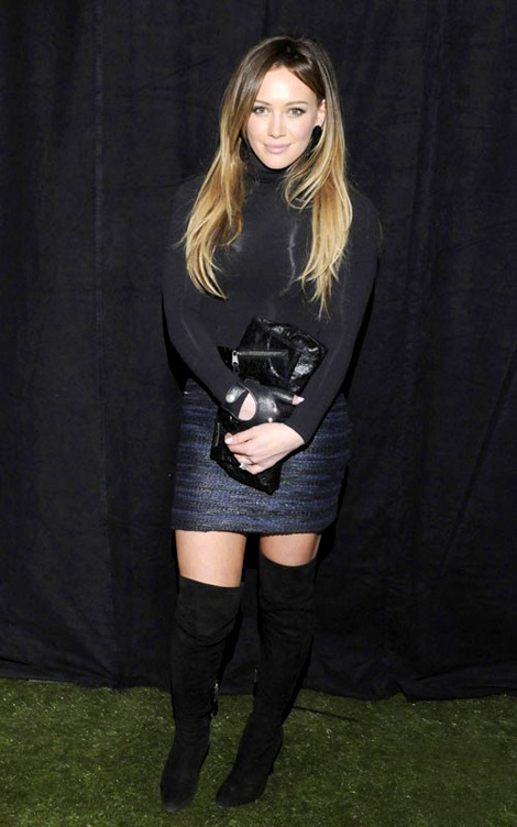 Celebrities in Boots: Hilary Duff in Thigh High Boots. Los Angeles, 01.13.2011.