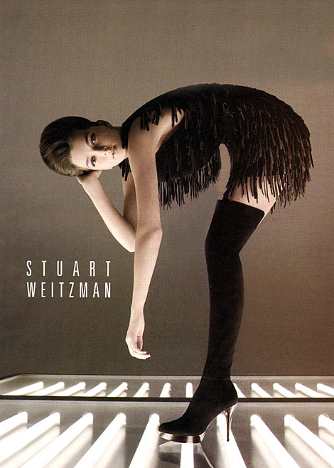 Boot Fashion: Stuart Weitzman Thigh High Boots. F/W Ad Campaign, 2009.