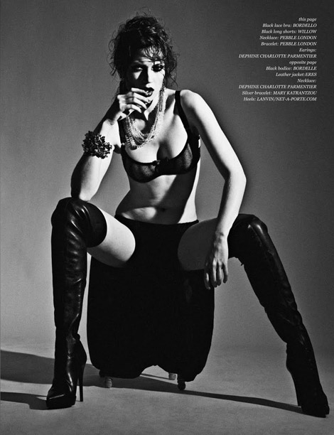 Boot Fashion: Olivka in Burberry Prorsum Thigh High Boots. Deluxx, 11.2010.