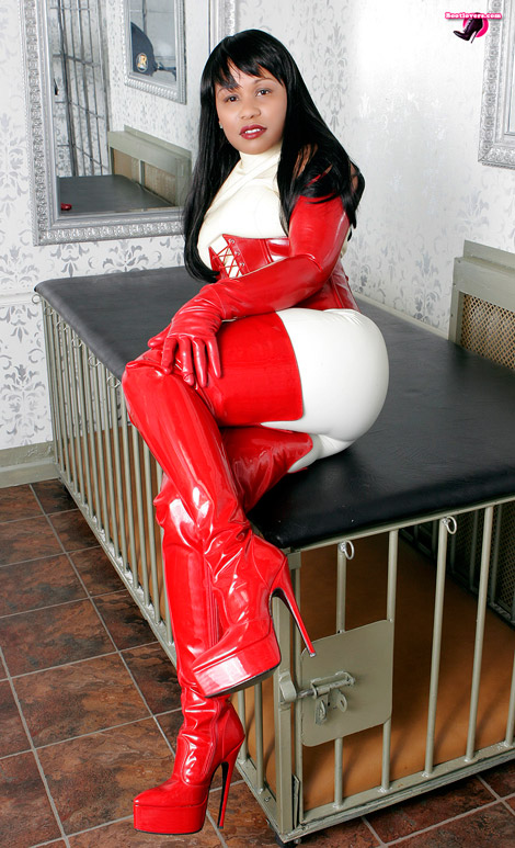 Bootlovers.com #71 Preview: Mistress Ariana Chevalier's Big Red Boots!