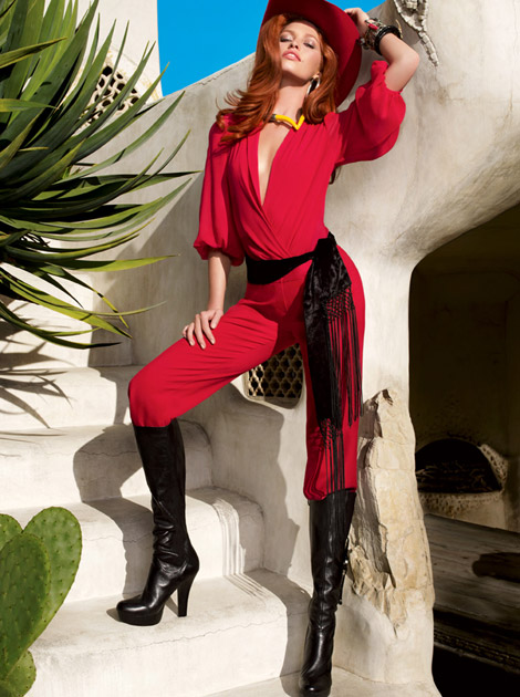 2f25810fd76 Boot Fashion  Heide Lindgren in Guess Knee High Boots. Guess By Marciano  F W 2011 12 Campaign.