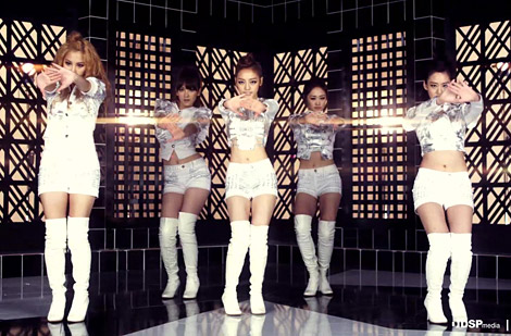 "Celebrities in Boots (Video): K-Pop Girl Group ""Kara"" in Thigh High Boots. Jumping Video."