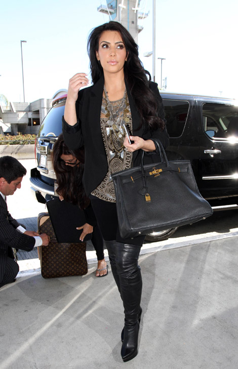 Kim Kardashian Over The Knee Boots - Boot Hto