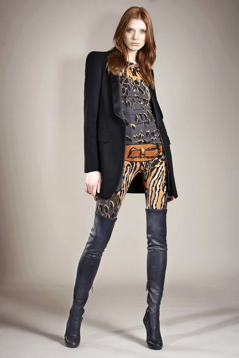 Boot Fashion: Olga Sherer in Roberto Cavalli Thigh High Boots. Roberto Cavalli Pre-Fall Look Book, 2011.