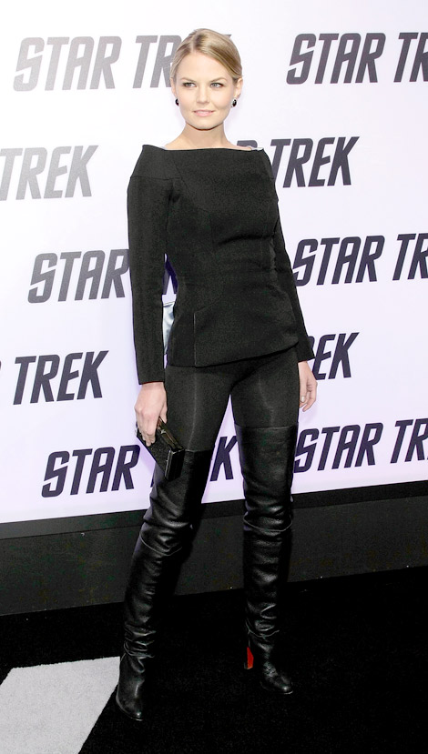 865ec2b0fdeb ... top quality celebrities in boots jennifer morrison in christian  louboutin thigh high boots. los angeles