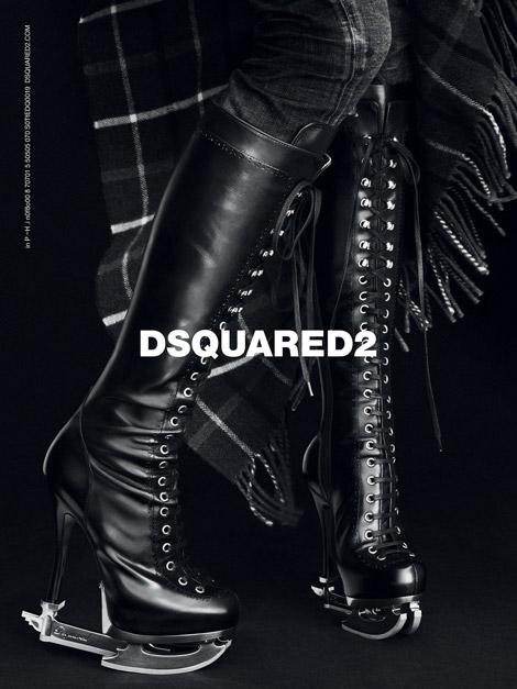 Boot Fashion: The DSquared2 Skate Boot. DSquared F/W 2011/12 Campaign.