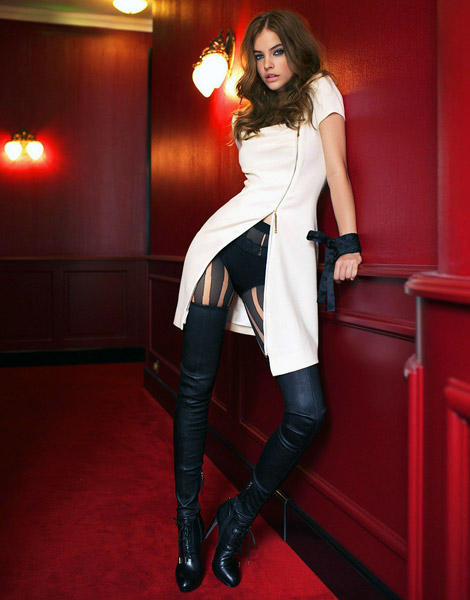 Boot Fashion: Barbara Palvin in Thigh High Boots. Elle Hungary, 10.2011.