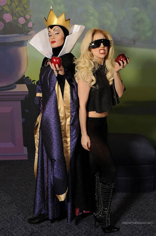 Celebrities in Boots: Lady Gaga in Knee High Laced Boots. Walt Disney World. 04.16.2011.