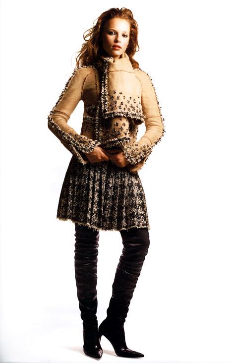 Boot Fashion: Polina Kouklina in Chanel Thigh High Boots. Bergdoff Goodman, Fall 2006.