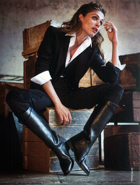 Boot Fashion: Elisa Sednaoui in Hermès Riding Boots. La Repubblica, 04.2011.