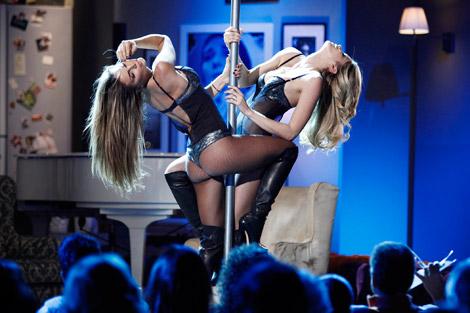 Celebrities in Boots: Elena Santarelli and Nina Senicar in Over The Knee Boots. Kalispera, 04.2011.