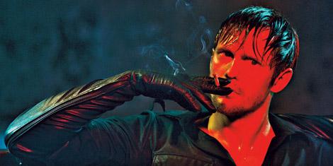 Celebrities in Gloves: Alexander Skarsgård in Leather Opera Gloves. Interview, 06.2011.