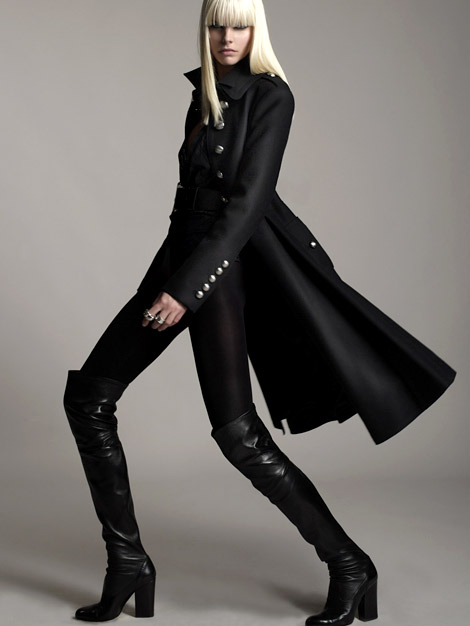 Boot Fashion: Anna Tunhav in Bally Over The Knee Boots. Bally Campaign, F/W 2010.